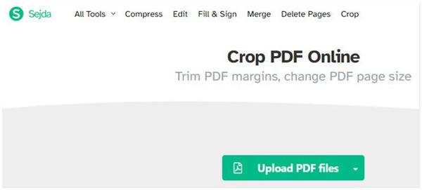 Sejda crop pdf en ligne