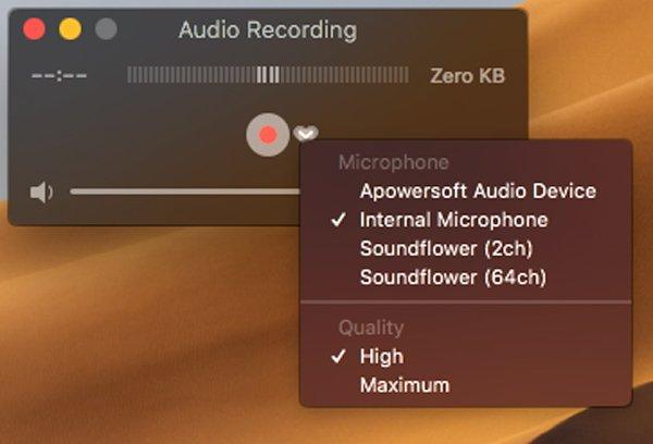 Soundflower Audioを選択します