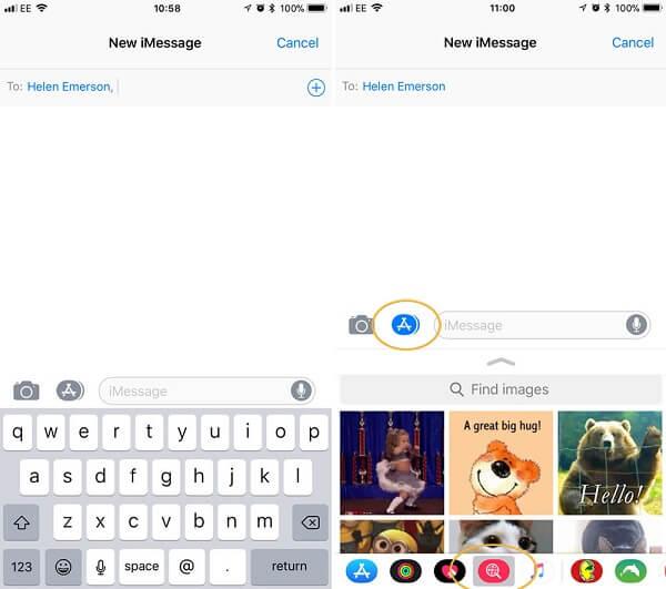 Envoyer des messages GIF