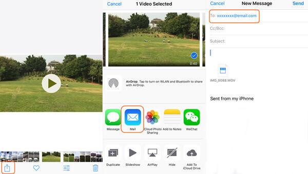 Importieren Sie Videos per E-Mail vom iPhone auf den Mac
