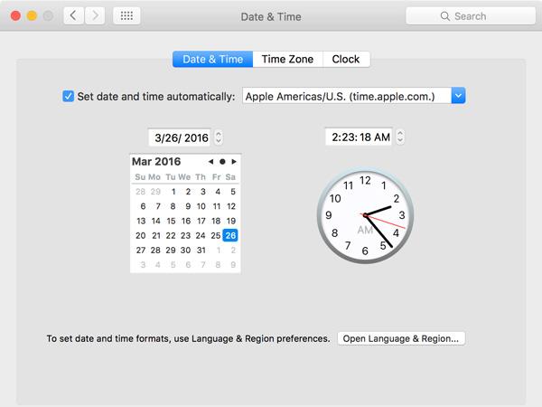 Datum auf dem Mac einstellen