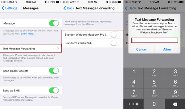 Richten Sie das iMessage iPhone ein
