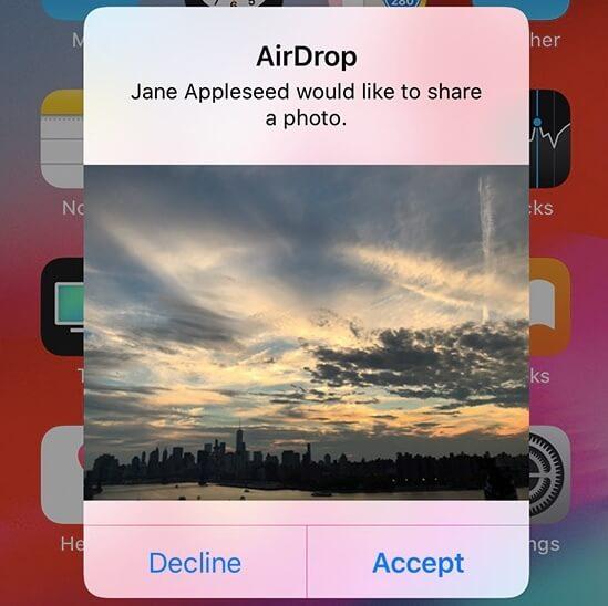 Airdropでアルバムを共有する