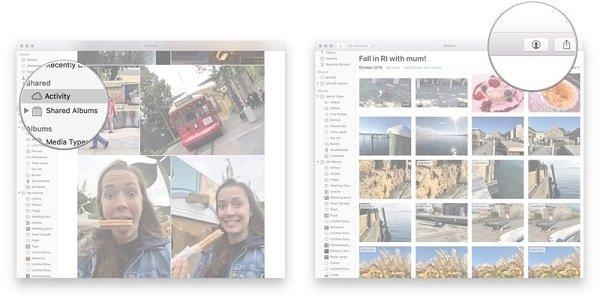 Teilen Sie Fotos auf dem Mac
