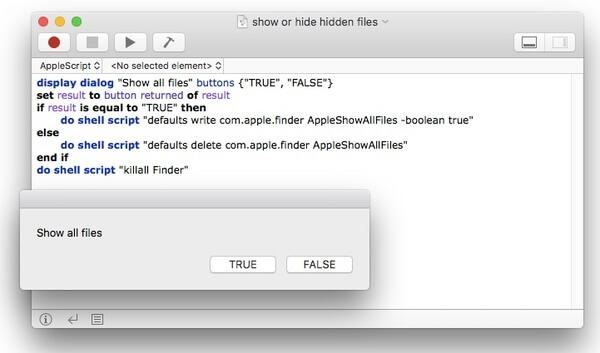 Versteckte Dateien auf dem Mac über AppleScript anzeigen