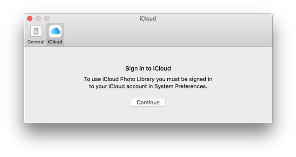 Signer iin iCloud Mac