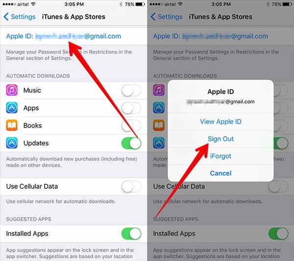 Abmelden App Store