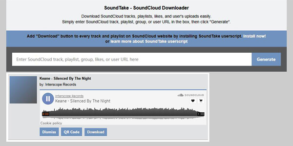 Soundtake Soundcloud zu MP3 Konverter