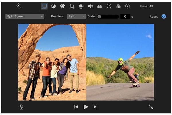 Mac上のiMovie