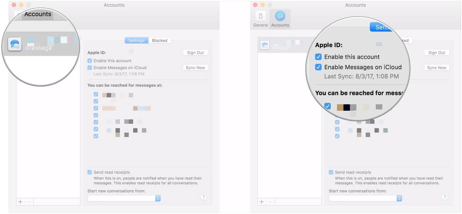 IMessage Mac synchronisieren
