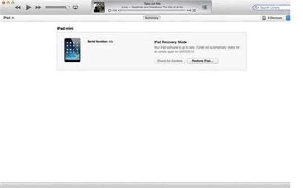 Sync iPad to iTunes