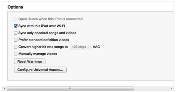 Mit dem iPad synchronisieren
