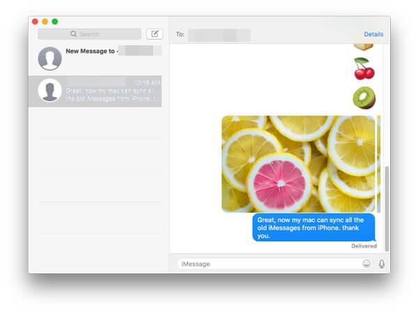 Synchronisez vos iMessages iPhone sur Mac