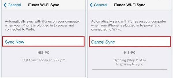Sync iPhone with iTunes
