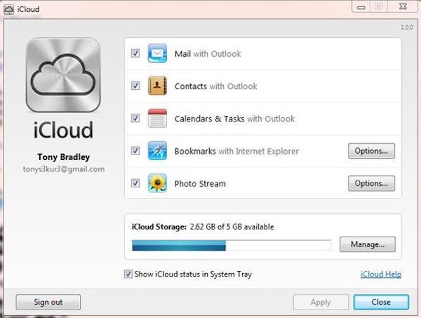 Synchronisez Outlook avec iPhone via iCloud