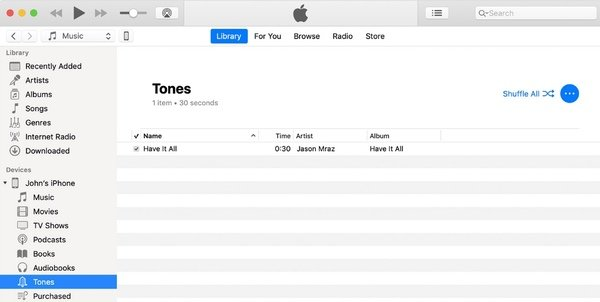 Sync Recording to iPhone via iTunes