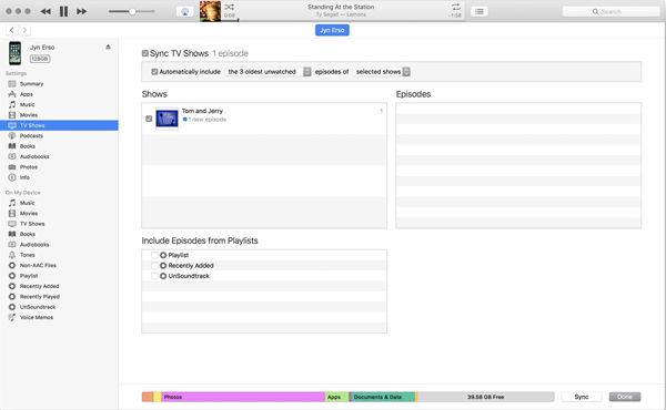 Transfer Videos with iTunes