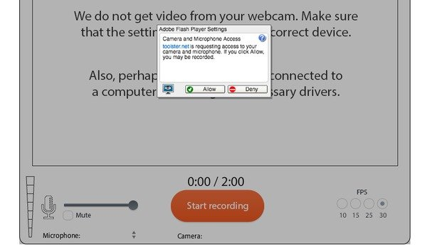 Toolster Online Webcam Video Recorder