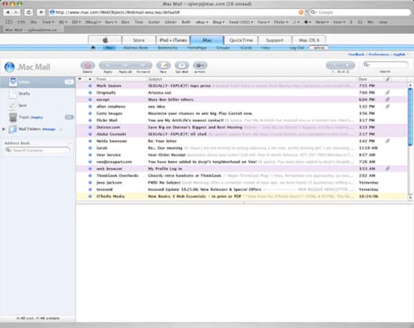 Transférer des fichiers par courrier électronique