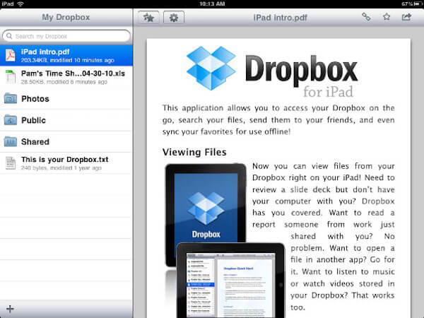 Transfer Files with Dropbox