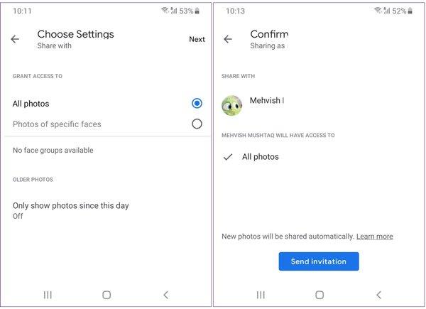 Transférer Google Photos