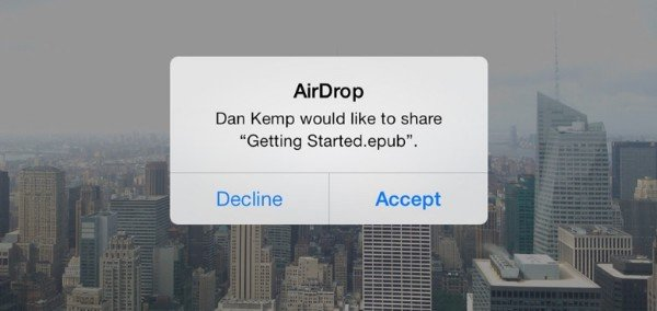 Transfer iBooks to iPad with AirDrop