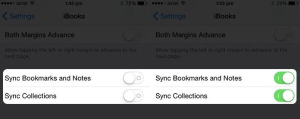 Transfer iBooks to iPad via Settings