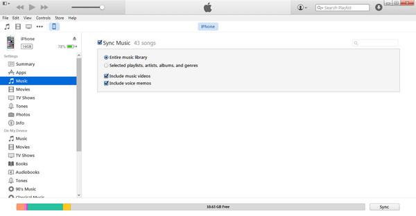 Übertragen Sie Musik von iTunes auf das iPhone