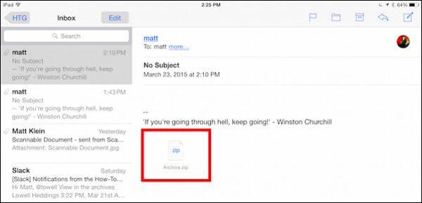 Fotos per E-Mail auf das iPad kopieren