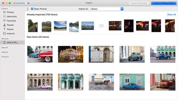 Importieren Sie Videos vom iPhone auf den Mac über Fotos
