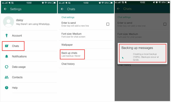 Transfer WhatsApp messages from Android to iPhone