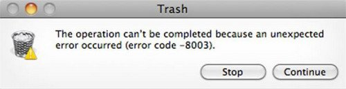 Trash error code