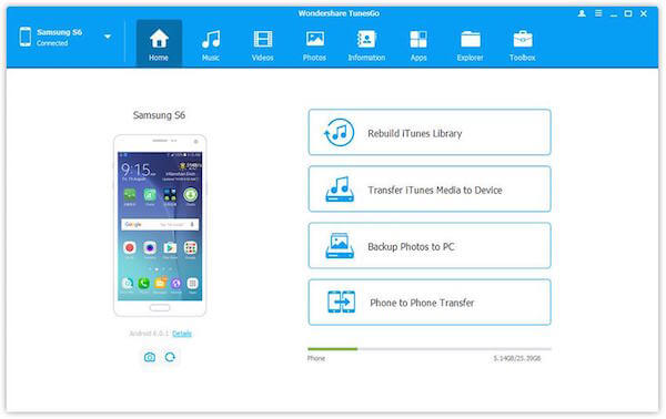 tunesgo android sms backup
