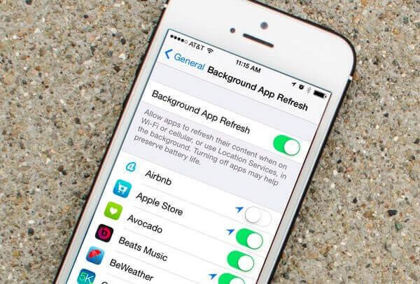 Deaktivieren Sie die Hintergrund-App-Aktualisierung
