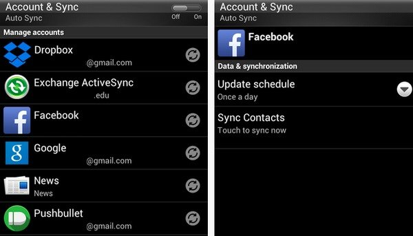 Turn Off Sync for Facebook