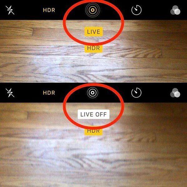 Aktivieren oder deaktivieren Sie Live-Fotos