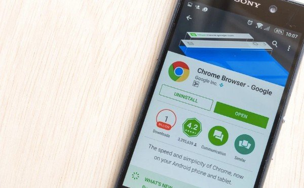Uninstall Google Chrome on Android