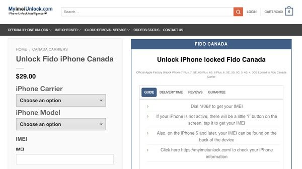Fido Canada iPhone Unlock (iPhone X/8/8 Plus Supported)