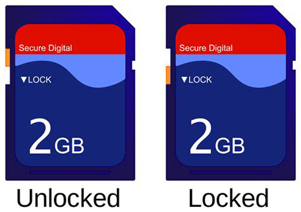 Unlock or Lock your SD Card