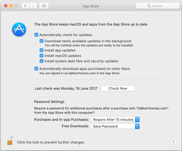 Aktualisieren Sie Apps auf dem Mac