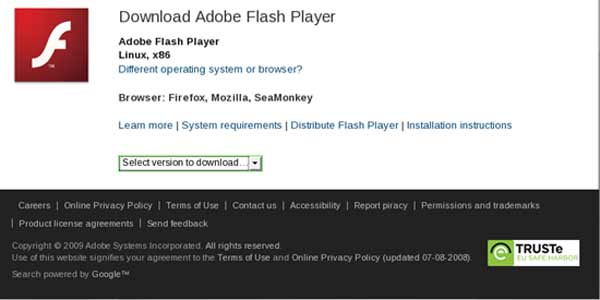 Flash Player aktualisieren