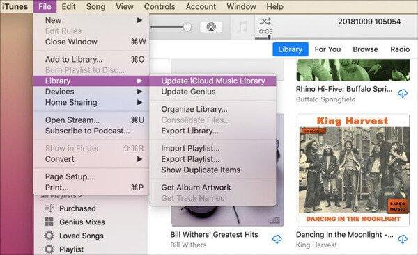 iCloudミュージックライブラリのiTunesを更新する