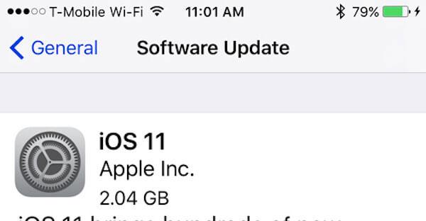 Aktualisieren Sie das iPhone iOS
