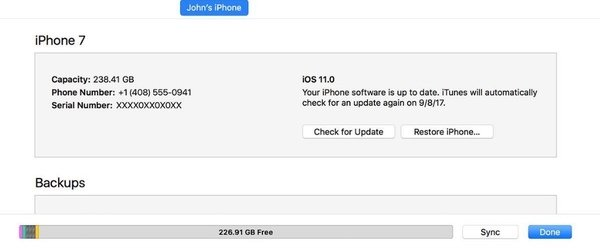 iTunesでiPhoneを更新する