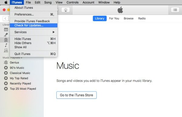iTunes Mise à jour