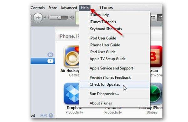 iTunesのWindowsバージョンを更新する