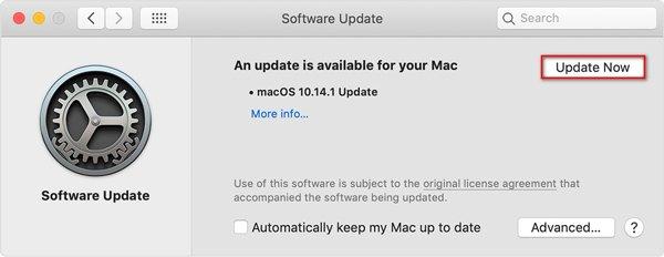 Aktualisieren Sie die Software auf dem Mac