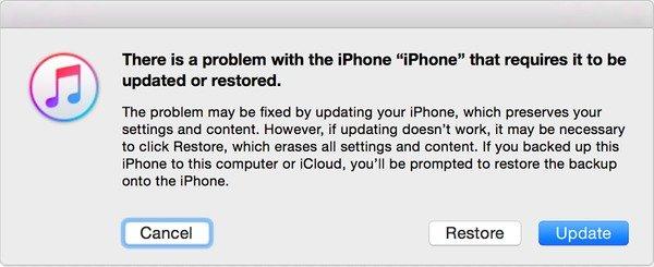 iPodをAppleロゴに固定するようにiPodをアップデートする