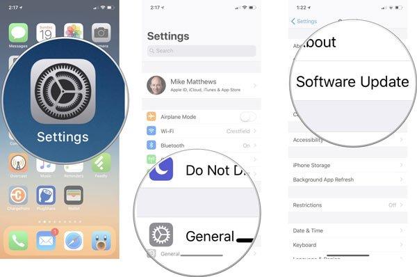 Software aktualisieren iOS