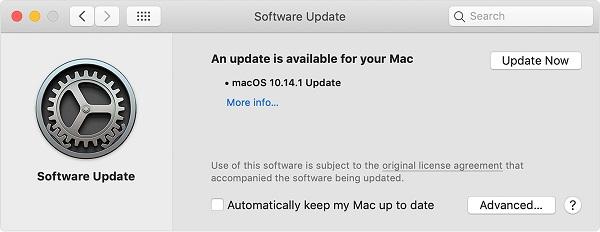 Aktualisieren Sie die Software auf den neuesten Stand